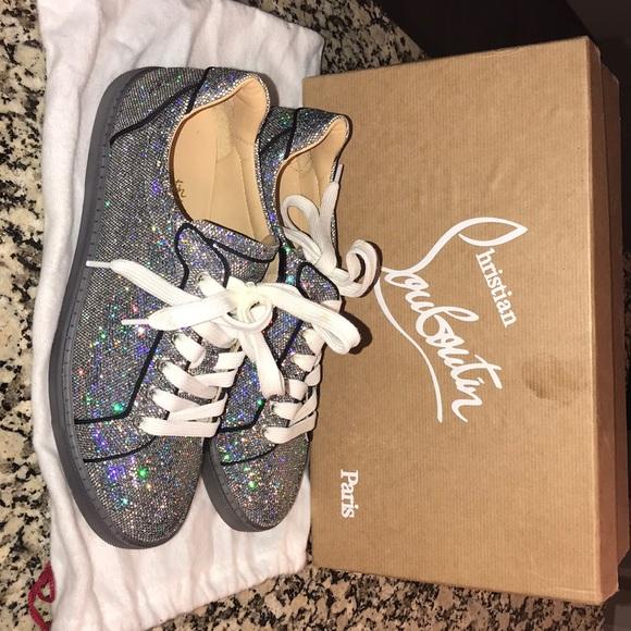 c988797a86657 Christian Louboutin Shoes | Seava Women Flat Glitter Disco Ball ...